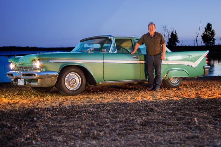 Brian Jones with his 1958 Desoto Firesweep