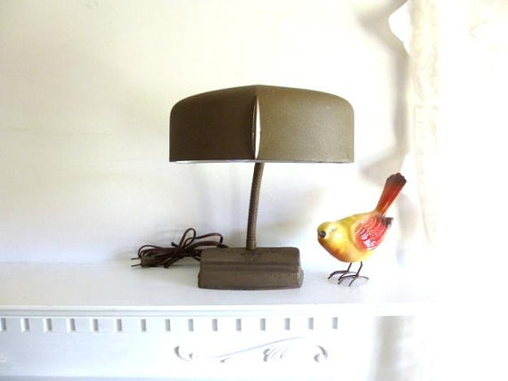 Vintage Gooseneck Table Lamp  Retro Table Lamp  by atopdrawer, $52.00