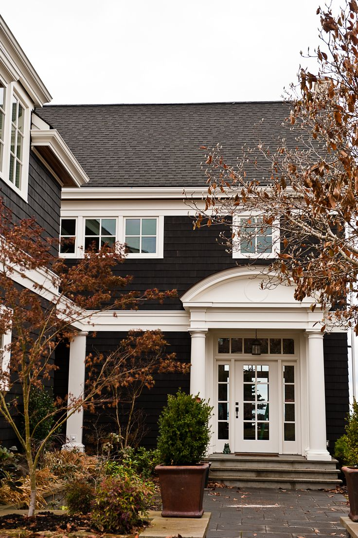 Who knew a black exterior could look so good.  Seattle Exterior Paint Job