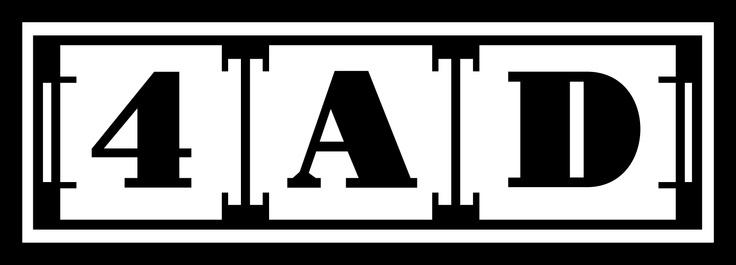 4AD logo, Vaughan Oliver / 23 Envelope