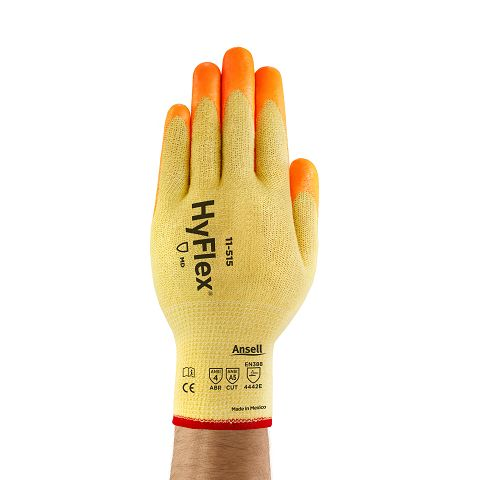 Ansell HyFlex® 11-515 Medium-Duty Hi-Viz™ Cut Protection Gloves Mfg#11-515-8(12pairs)