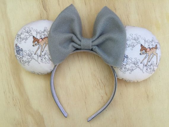 These Bambi Minnie Mouse Ears are the perfect accessories for those fun filled Disneyland Trips! -Available in variety different bow & headband
