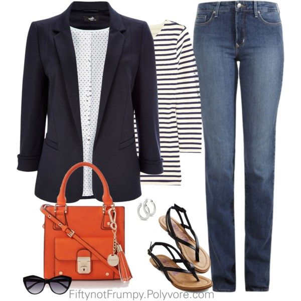 """""""Striped Sailor Top"""" by fiftynotfrumpy on Polyvore"""