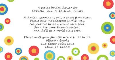 """For brides that live too far away for you to throw them a shower, """"host"""" a recipe bridal shower - mail recipe cards to the """"guests"""" and ask them to provide their favorite recipe and mail to the bride.  What a neat keepsake for the bride!"""