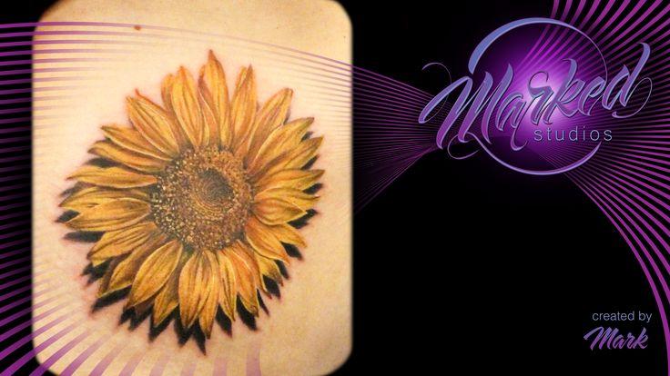 Sunflower rib piece realism flower flowers color tattoo artist tat tats ink inked tattoos skin art body sexy flow fit form beauty painting tattooing tattooer ta2 marked studios reno nevada love