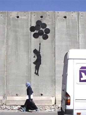Banksy on the Jerusalem wall