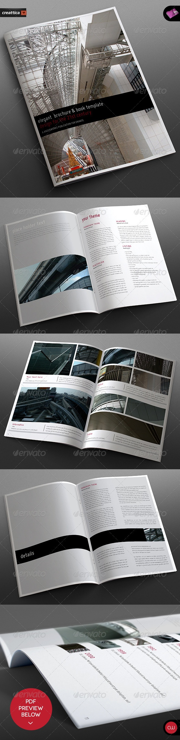 Elegant Brochure & Book Template - 18 Pages | rokaho's