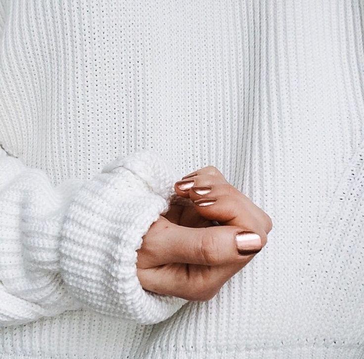 Copper nails Winter Nails - http://amzn.to/2iDAwtQ
