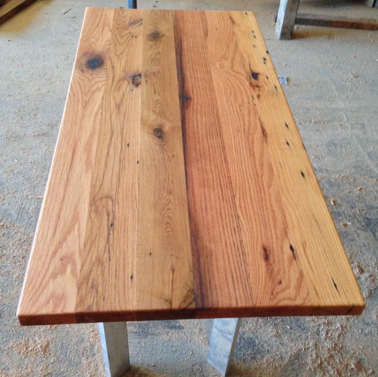 Reclaimed Wood Countertop | Antique Oak | Rubio Monocoat Pure Finish - 44 Best HOUSE: Floors Images On Pinterest