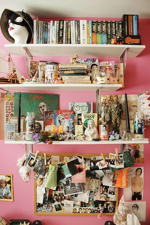 17 best images about bedroom inspo on pinterest witch for Bedroom shelves inspiration