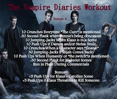 The Vampire Diaries Workout |New Blog Title Link| @Cecilia Roberts