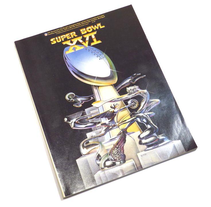 Super Bowl XVI Program Magazine Vintage 1980s Football Magazine Bengals vs 49ers by CreeksidePaper on Etsy