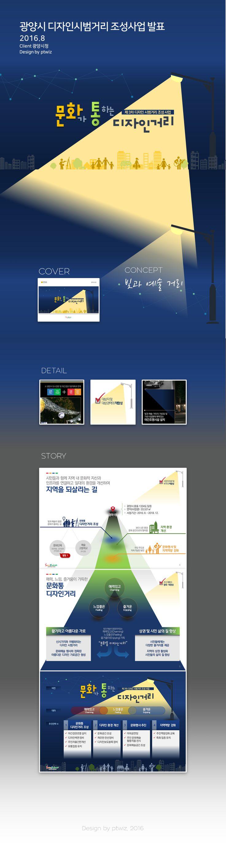광양시 디자인시범거리 조성사업 Presentation Design Portfolio By PTWIZ / Clent : 광양시