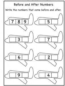 plane number worksheet