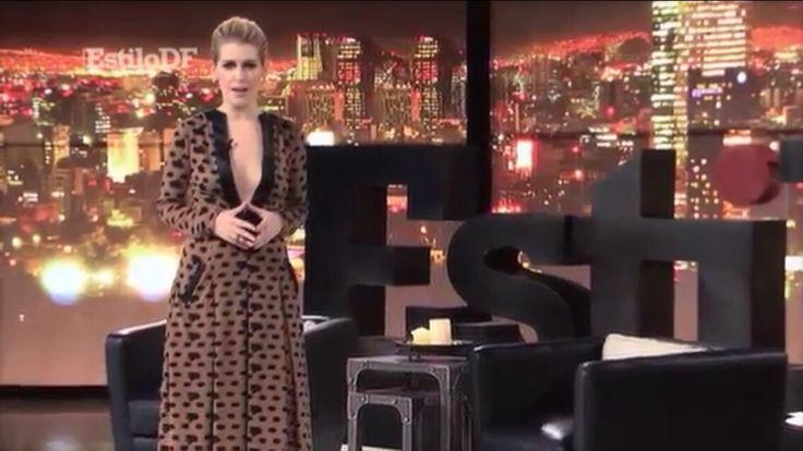 Guapísima Eugenia debayle en estilo D.F con un vestido de RAquel Orozco