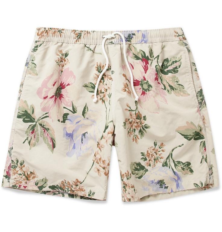 HartfordMid-Length Flower Print Swim Shorts