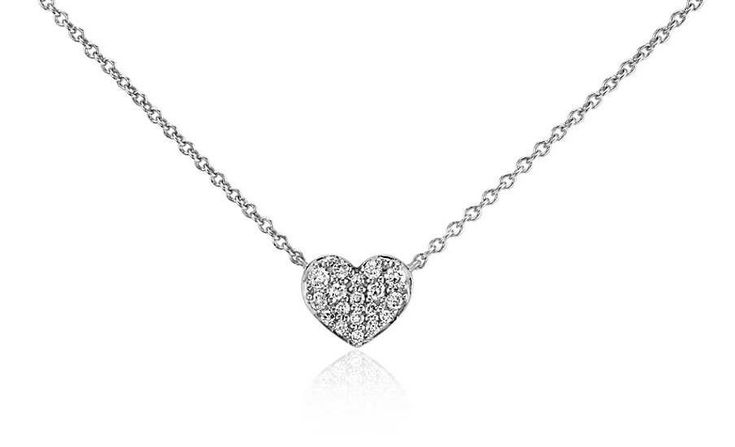 Russian Lab Diamond Heart Necklace