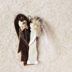 Magis Art, Novomanželia  žabiaka so žabkou, 12 €, 9x17 cm