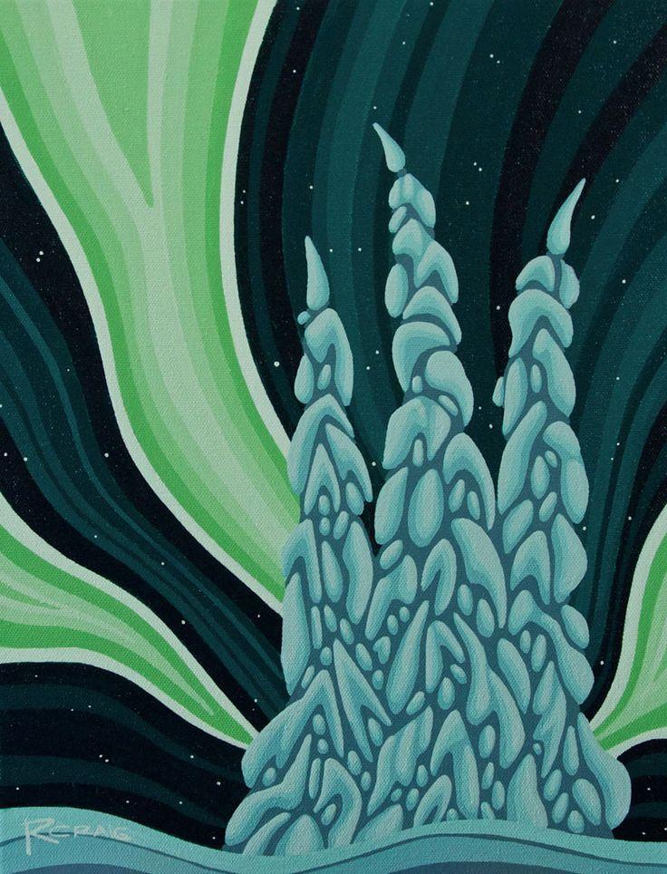 Snow Ghosts Under the Aurora