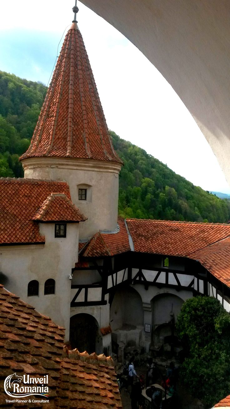 The inner courtyard of Bran Castle #Dracula #Castle #Transylvania #Romania #travel #awesome