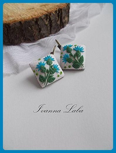 scottish thistle earrings, thistle earrings, scottish earrings, gift for her, bridesmaids earrings, rustic bridal jewellery, scottish folk jewellery, flower earrings, custom bride jewelry - Wedding earings (*Amazon Partner-Link)