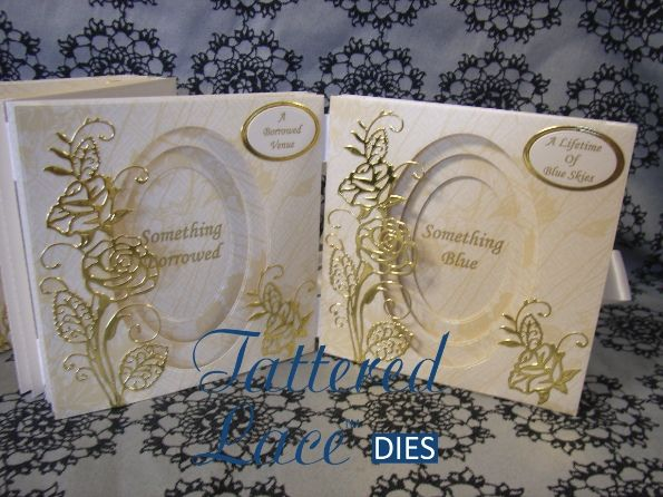 Tattered Lace Majestic Rose Wedding card. Made using the Panorama dies and the Majestic Rose die.