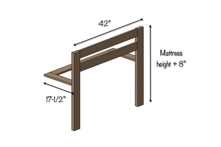 DIY Toddler Bed Rail | Dimensions