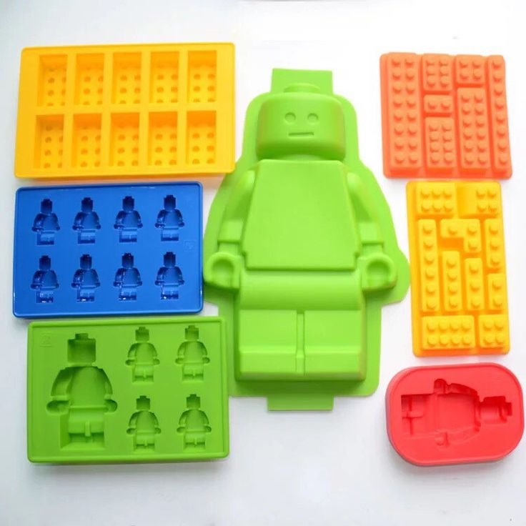 7 molds a set Lego man lego brick silicone mold set - cake topping decorations, ice cube tray, chocolate, jello gummy, soap making mold etc by 2ChanChan on Etsy https://www.etsy.com/listing/262822500/7-molds-a-set-lego-man-lego-brick