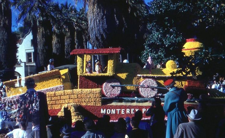 35mm Slide Tournament of Roses Monterey Park Casey Jones 1960 Rose Bowl Parade