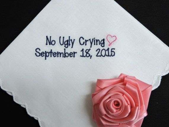 Hey, I found this really awesome Etsy listing at https://www.etsy.com/listing/219069178/sale-no-ugly-crying-wedding-handkerchief