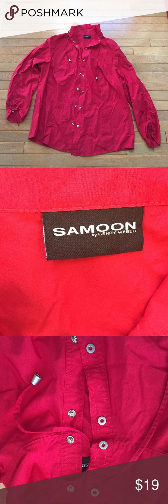 Samoon by Gerry Weber red windbreaker women's M Samoon by Gerry Weber red windbreaker women's small Medium, 100% cotton SAMOON Tops