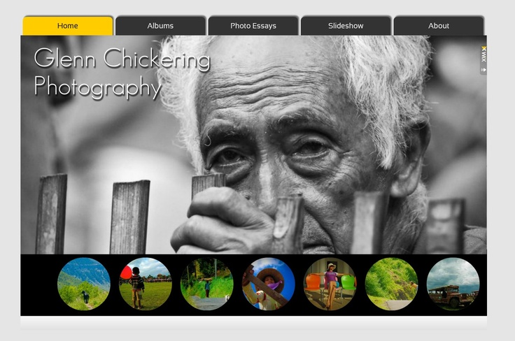 Gaia Design Portfolio - Glen Chickering Photography website