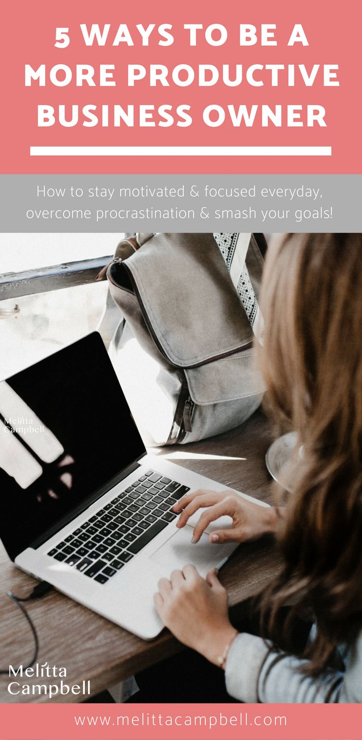 Actionable tips and ideas that show you how to stay motivated and focused every day in your home business so you can overcome procrastination and smash your goals! #homebusiness #homebusinessideas