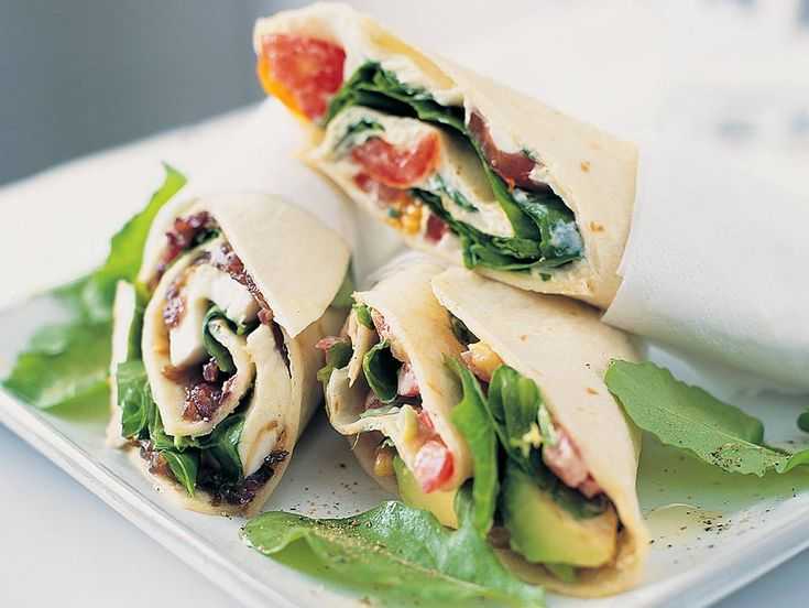 These tortilla wraps with caramelised red onion