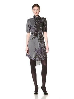 Jessica Simpson Women's Printed Shirt Dress with Pockets