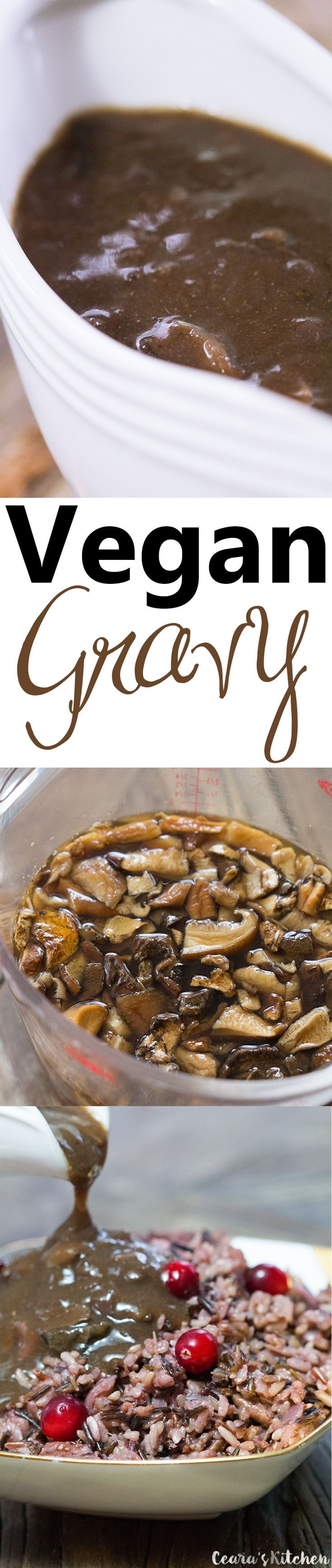 Simple and rich Easy Vegan Gravy. This gravy is so incredibly rich, flavorful and perfect to drizzle over all your favorite holidays sides!