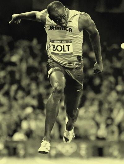 Usain Bolt- one of my two idols. My other.......Sally Pearson AAAAAAAAAHHHHHHHH!