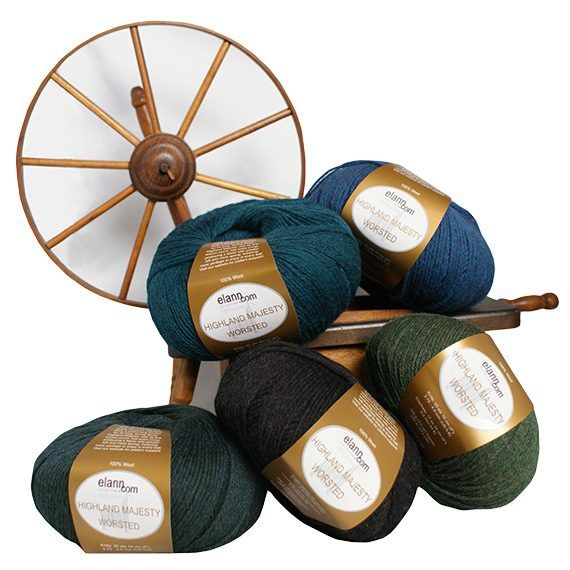 Worsted weight - 100% wool - international. elann.com