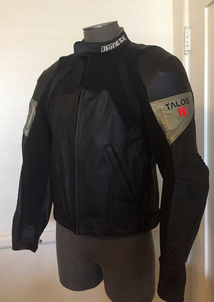 #apparel *NWT* DAINESE Talos IV Leather Motorcycle Jacket Armored Sz 50 EU (40 or M US) please retweet
