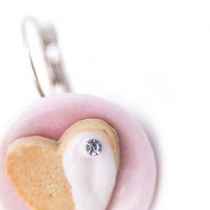 Pastry Pendant Earrings Detail