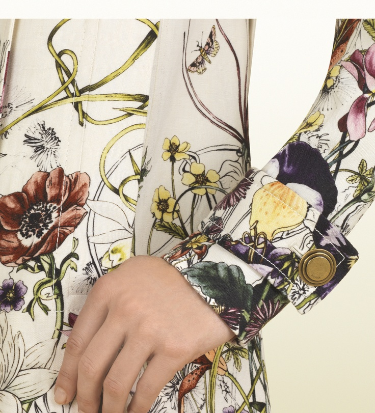 """Gucci Women's Cruise 2013 Collection; """"Cute Spring jacket to go with those Floral Gucci sneakers with the same design."""""""