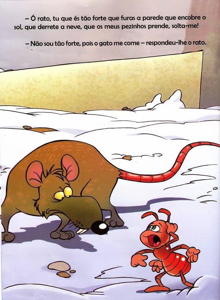 Histórias da Sementinha: A Formiga e a Neve Ilustrada   – ideias para MI