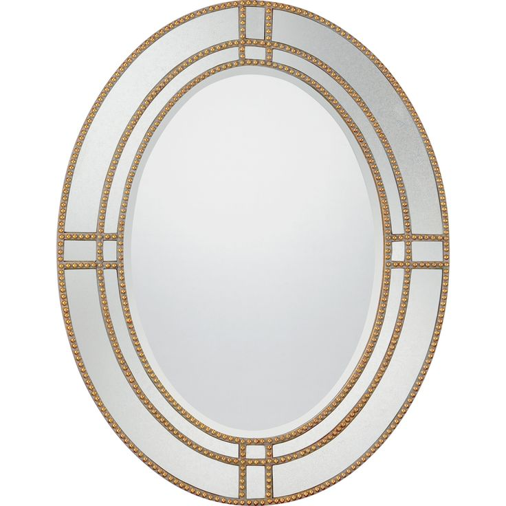 Art Exhibition Covina Goldtone Trim Oval Mirror Overstock Shopping Great Deals on Quoizel Mirrors Funky Downstairs bathroom