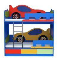Кровать двухярусная Машинка расцветка 1