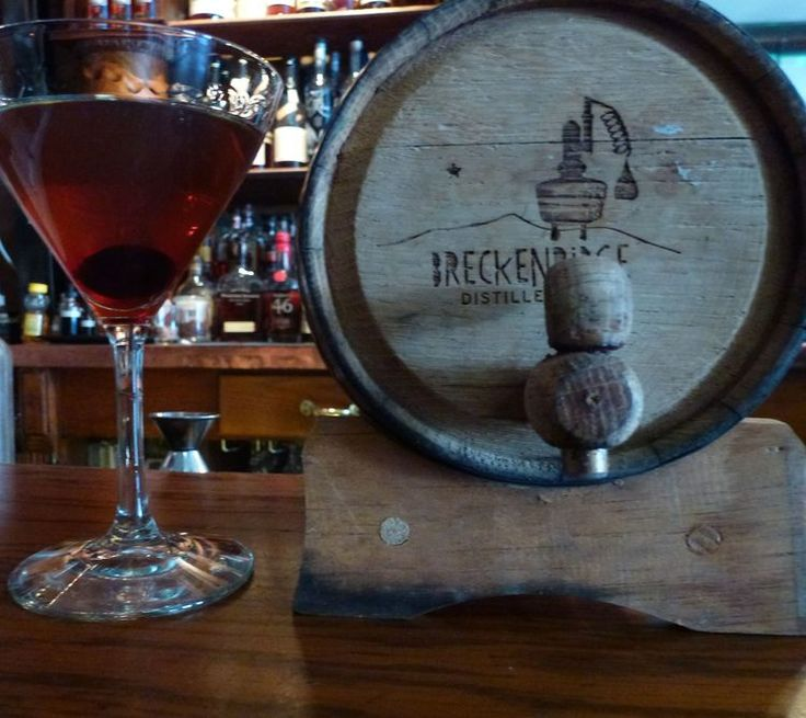 Colorado's take on a classic, The Mountain Manhattan made with Breckenridge Bourbon, distilled over a mile and half high at what's billed as the highest distillery in the world.(Photo by Hudson Lindenberger.)