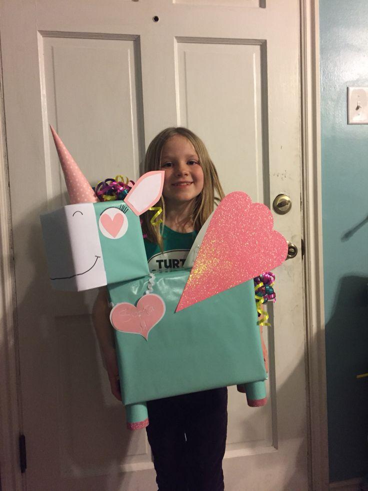 Unicorn with wings Valentine exchange box