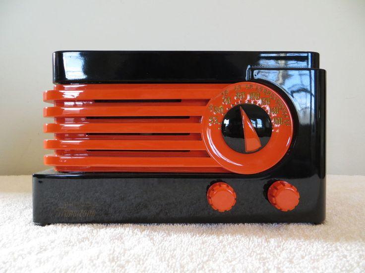 VINTAGE 1940s PHILCO ART DECO OLD BAKELITE RADIO HIGHEST QUALITY RESTORATION !!!   eBay