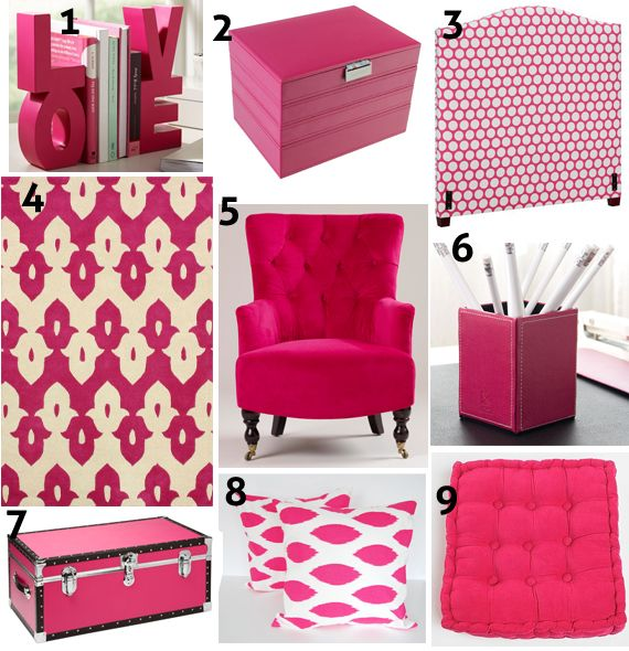 Best 25 Hot pink decor ideas on Pinterest Hot pink bedrooms