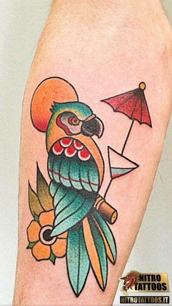 tatuaggio pappagallo significato #tatuaggi #tatuaggio #tattoos #tattoo #nitrotattoos