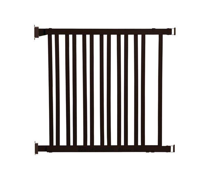 NELSON WOOD SWING GRO-GATE ESPRESSO - FITS OPENINGS 76-122cm